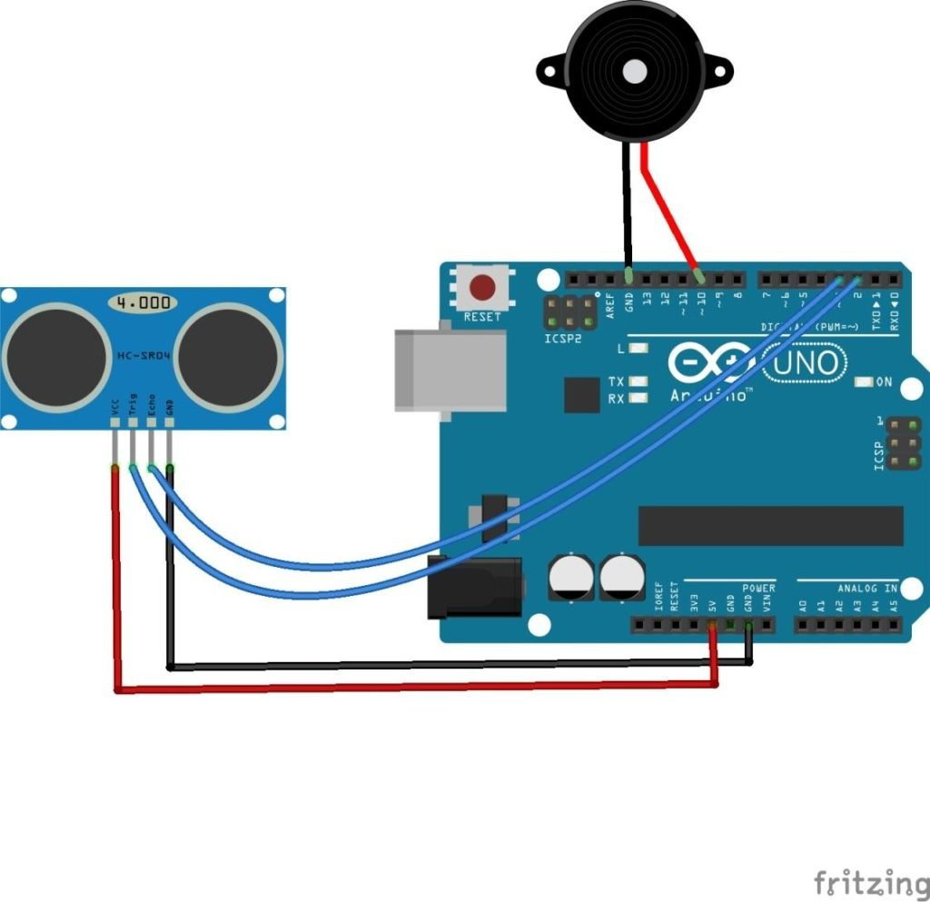 How To Make An Arduino Door Alarm Using Ultrasonic Sensor Pir Wiring Diagram Does The Work