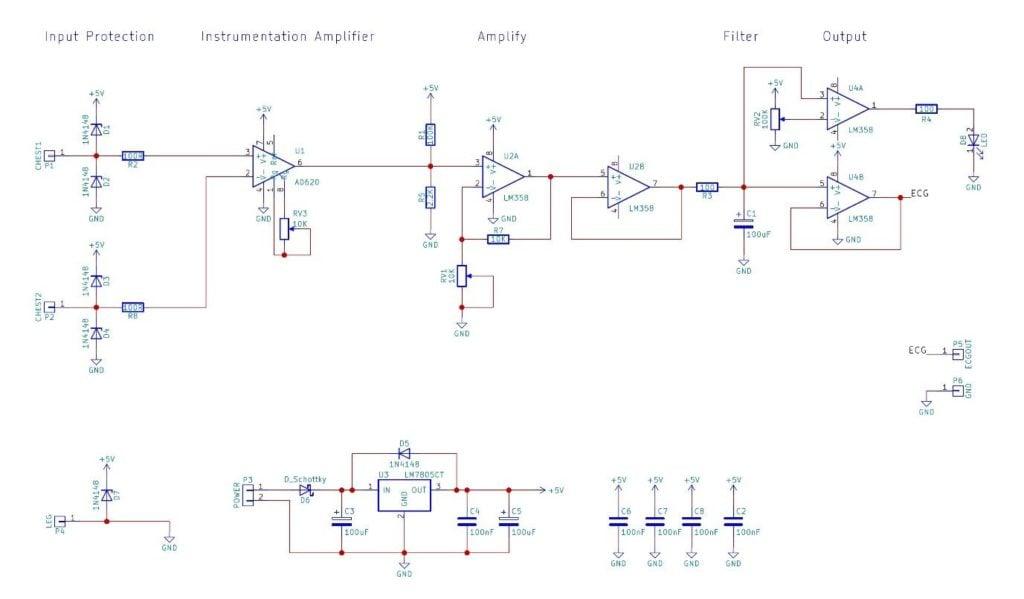 How to Build an Electrocardiogram Machine (EKG) | PCB