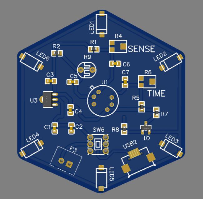 Simulation 3D PCB Figure