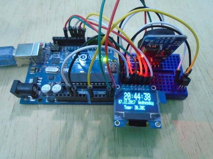 How to Make an Arduino OLED Temperature Display With Real