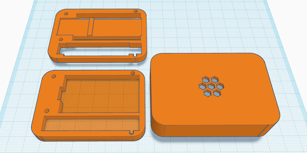 case design in Tinkercad