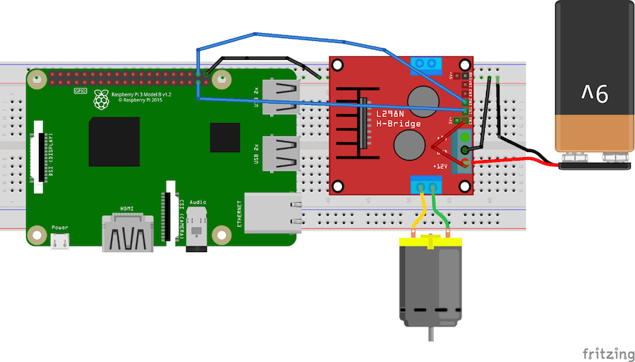 How to Control a DC Motor With an L298 Controller and Raspberry Pi ...