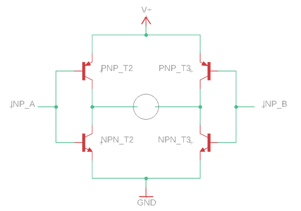 h-bridge circuit diagram