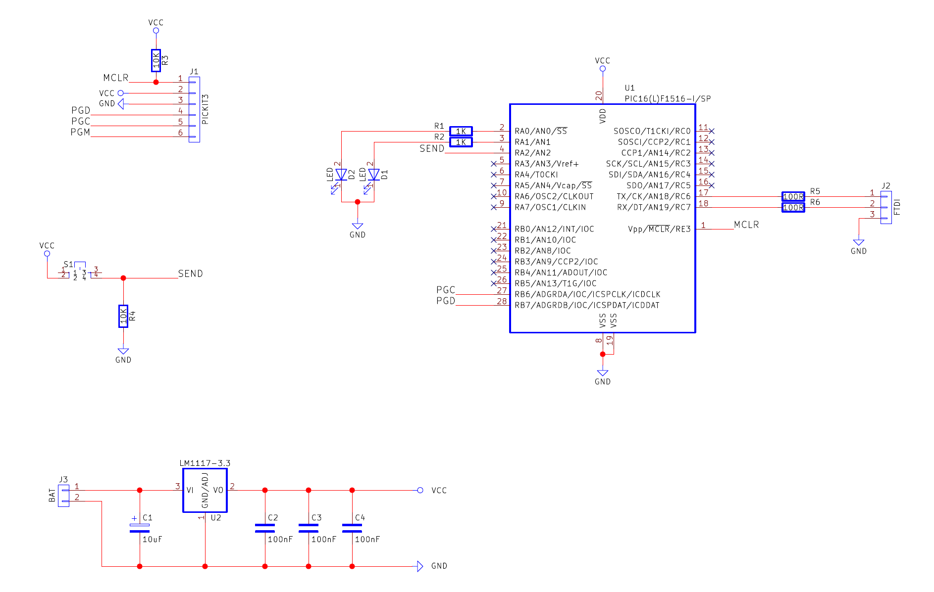 How To Use Pic Messaging Protocols Increase Data Transfer Simple Rgb Led Candle Circuit With The Of Pic12f675 See Full Size Version