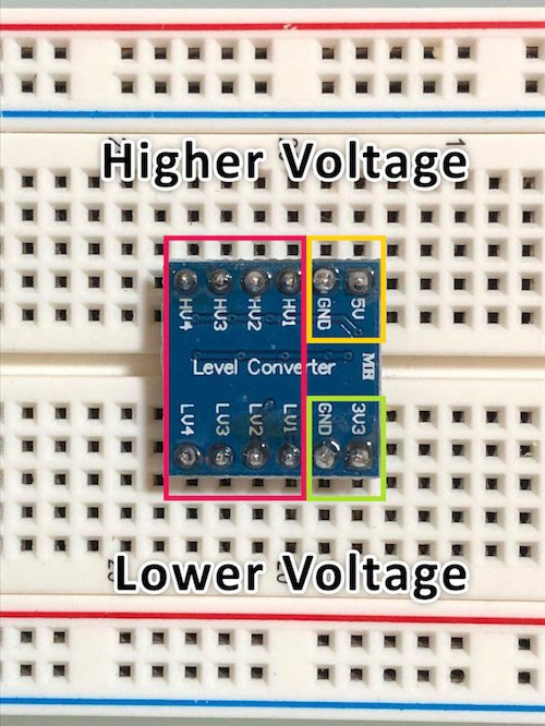 pinout for a logic level converter