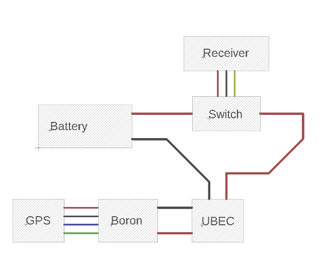 Wiring Diagram for Drone GPS Tracker