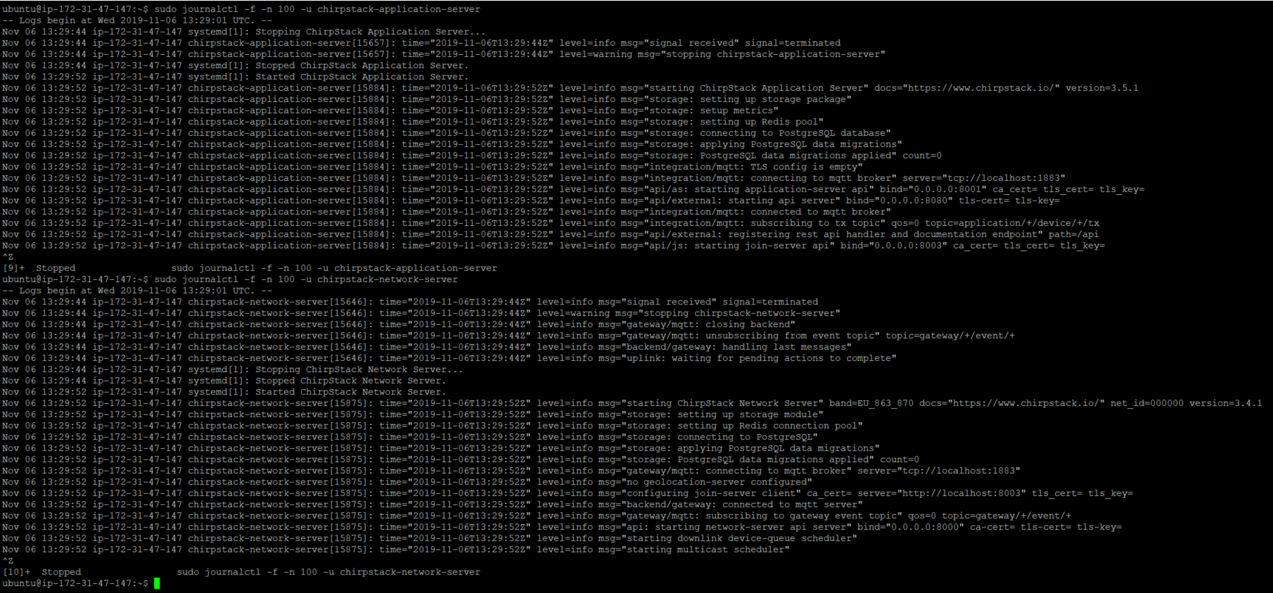ChirpStack Journal Control Output (no errors).png