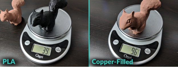 PLA VS Copper-Filed Model