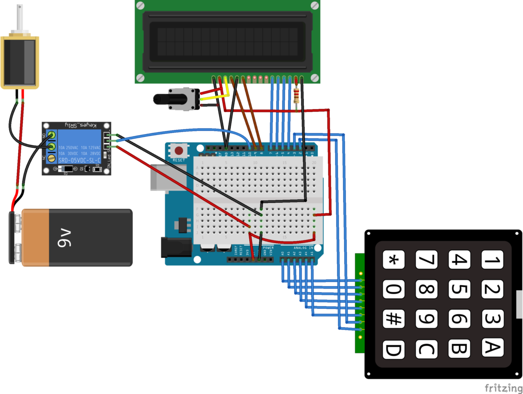How to Make an Arduino Keyless Door Lock System With Keypad and LCD