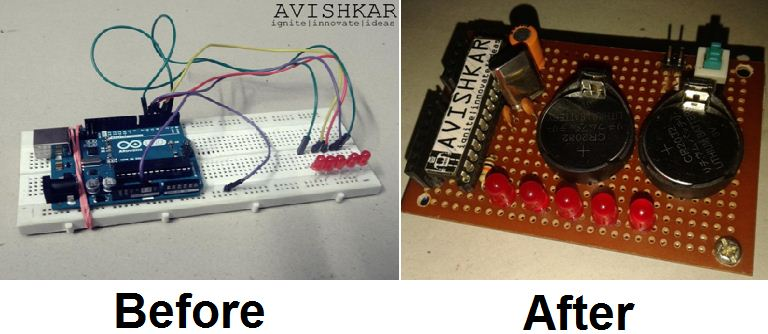 How to Make a Permanent Circuit Board to Shrink Arduino Projects ...