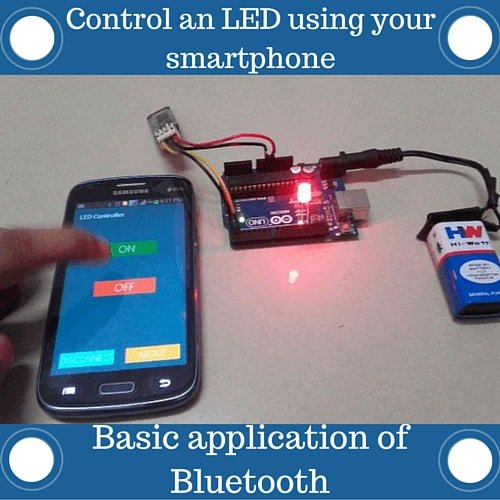 Bluetooth basics how to control an led using a smartphone