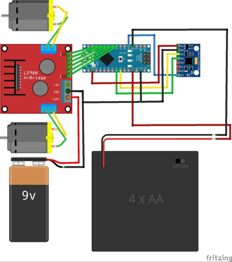 How To Build An Arduino Self Balancing Robot Maker Pro Basic Wiring For Motor Control Technical Data Eep Connection Diagram