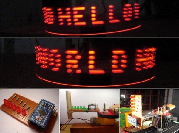 How to Make a POV Display Using LEDs and Arduino | Arduino