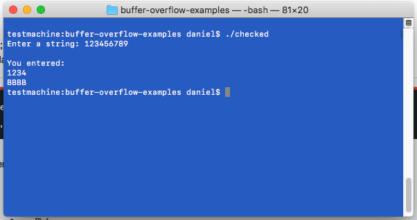 use fgets to avoid buffer overflow