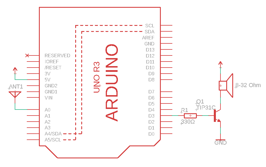 Arduino Theremin diagram