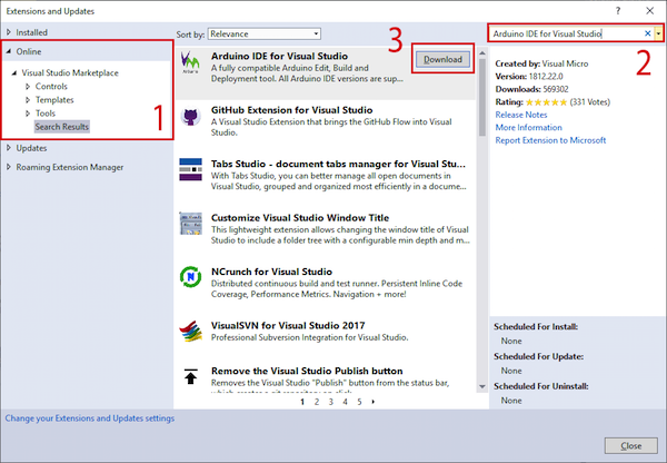 download the plugin for visual studio