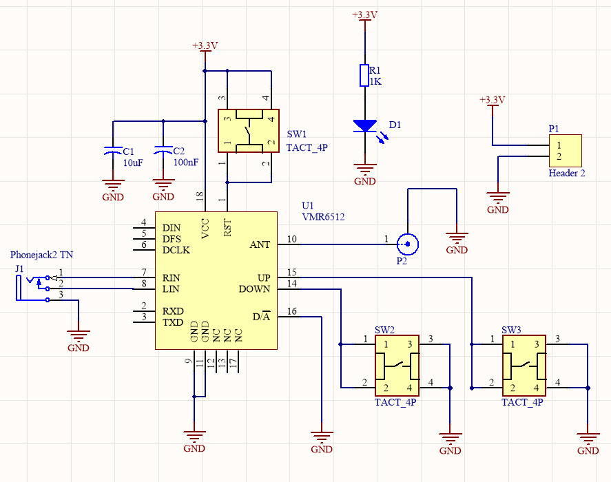 The schematic diagram of the FM transmitter