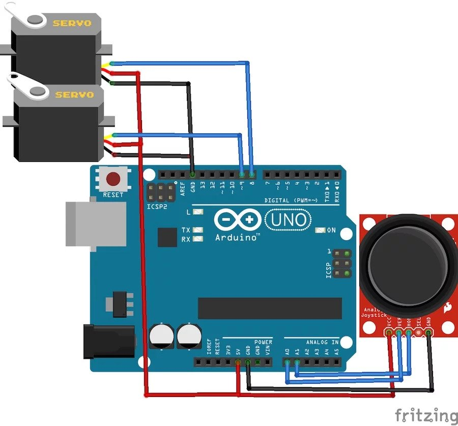 How to Control Servo Motors With an Arduino and Joystick | Arduino