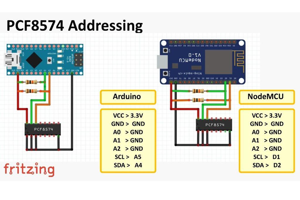PCF8574 GPIO Extender - With Arduino and NodeMCU | Arduino
