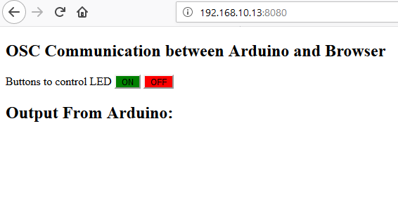 Enable Communication Between an Arduino and Web Browser | Arduino