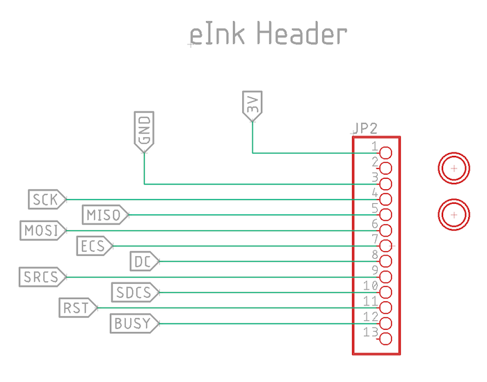 eInk header portion of schematic