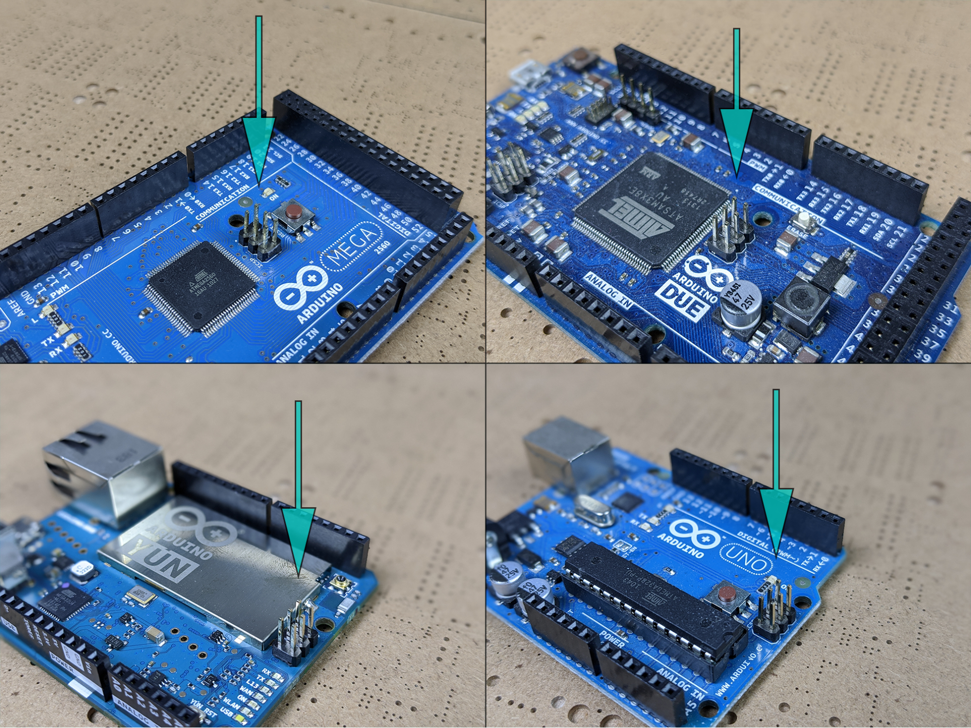 ISP headers on Arduino UNO
