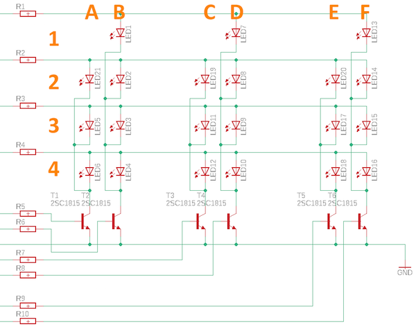 addressing LEDs in a matrix