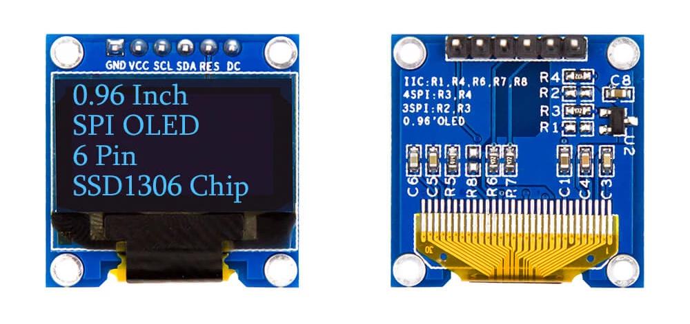 6-pin SPI OLED display