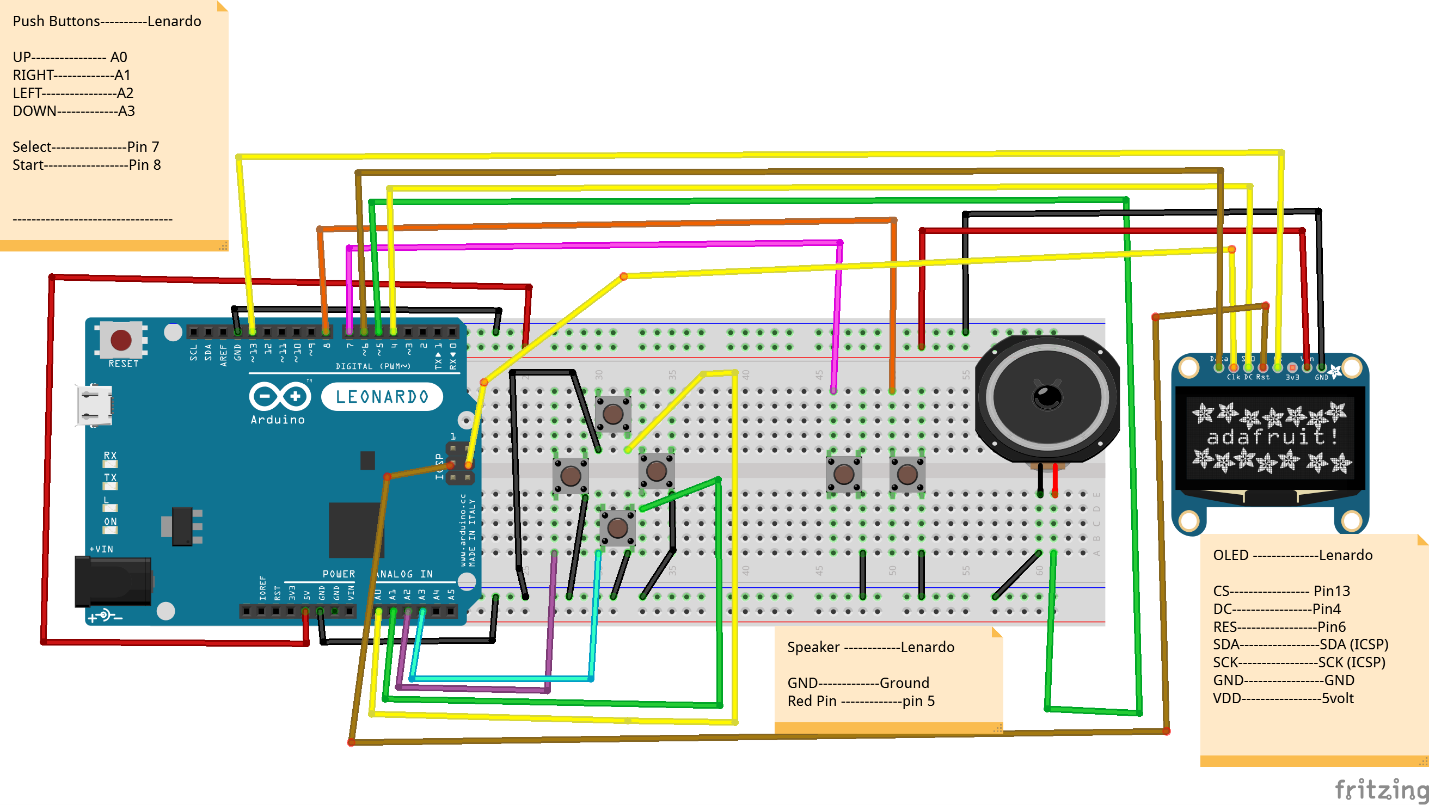 Fritzing diagram of the connected hardware
