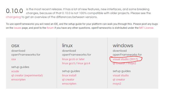 How to Install openFrameworks for Microsoft Visual Studio   Custom