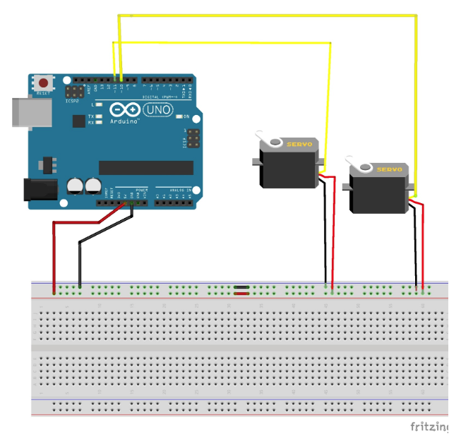 connecting servos and arduino uno