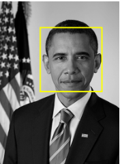 Image with face highlighted