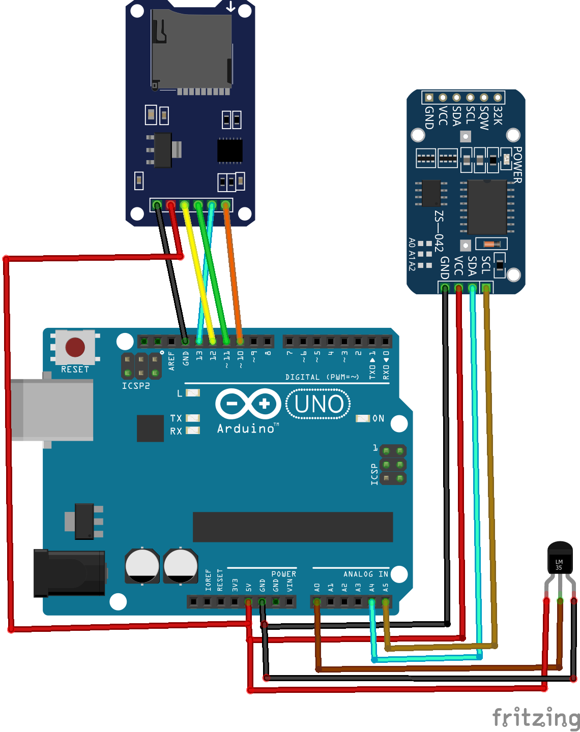 How to Make an Arduino SD Card Data Logger for Temperature Sensor