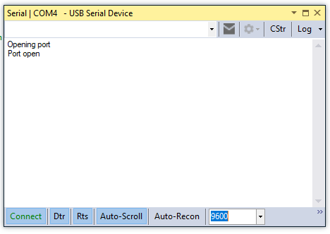serial port selection