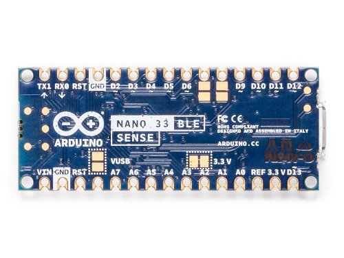 the back of the nano 33 ble sense board