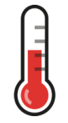 warning icon for temperature on Pi