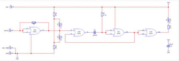 DIY Tools Series: How to Build a Logic Probe | Custom | Maker Pro on simple schematic, esr meter schematic, crystal tester schematic, combination lock schematic, audio amplifier schematic, metal detector schematic, spectrum analyzer schematic, oscilloscope schematic, geiger counter schematic, breadboard schematic, marx generator schematic, digital voltmeter schematic, signal generator schematic, logic model schematic, logic gate schematics, logic analyzer schematic, logic controller schematic, usb cable schematic, pwm motor control schematic, multimeter schematic,