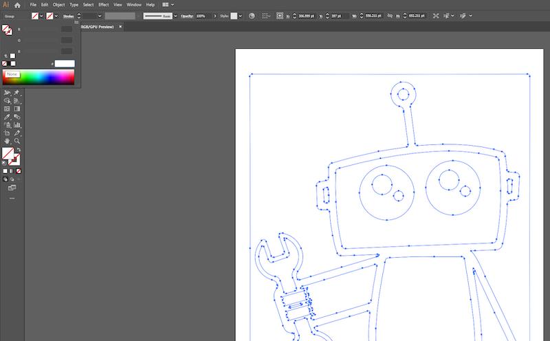 get rid of fill colors in adobe illustrator