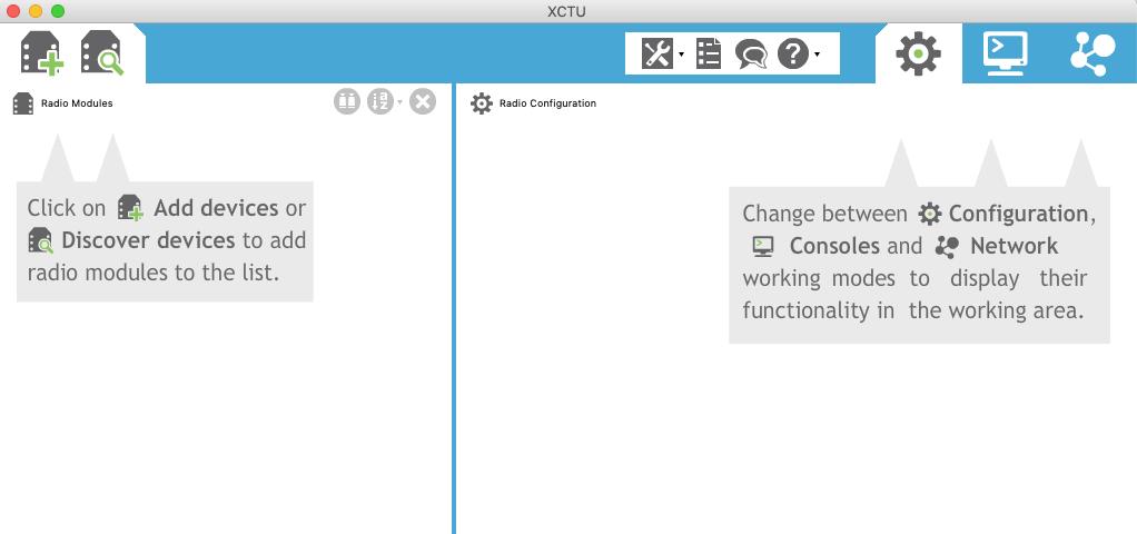 XCTU home page