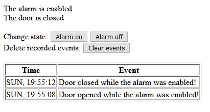 connected door alarm firmware