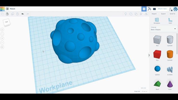 3D model of blobby planet