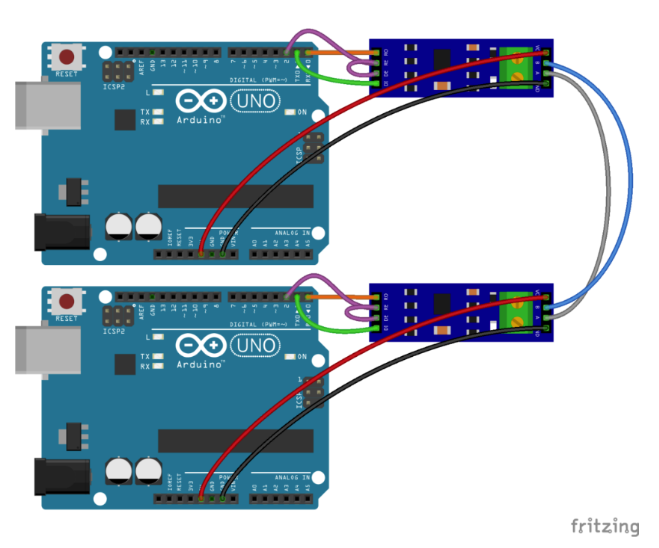Circuit Connecting Arduino and RS485