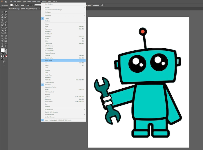 image trace tool in adobe illustrator