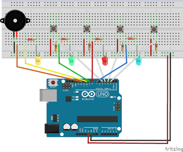 memory game wiring diagram