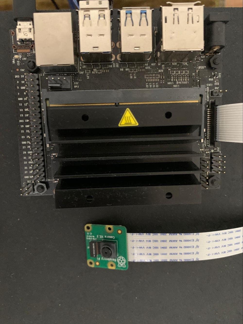 Raspberry Pi Camera Module v2 with Jetson Nano Developer Kit