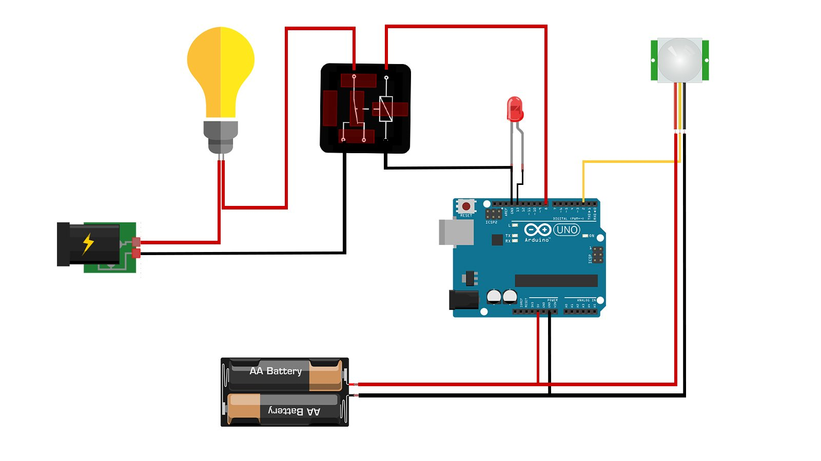 How A Pir Sensor Works Arduino Maker Pro Based Security System Using Controlling Relay Module