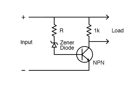 Circuit diagram for deep discharge protection circuit.
