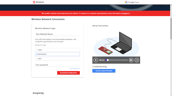 enter your network credentials