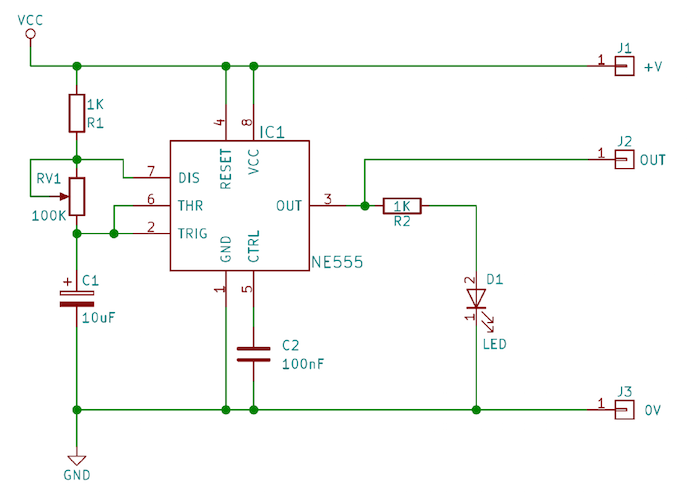 555 astable timer schematic
