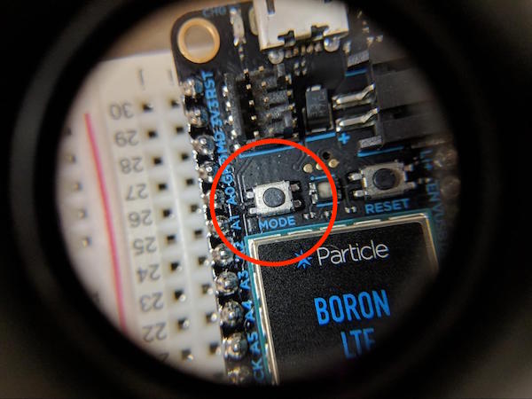 particle boron mode button